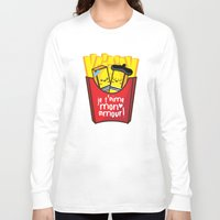 fries Long Sleeve T-shirts featuring French Fries by Kleviee