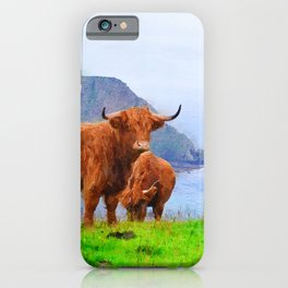 Highland cow watercolor painting #9 iPhone Case