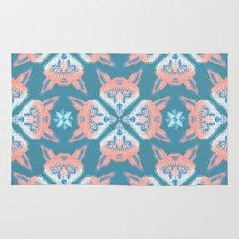 Pastel Fox Pattern Rug