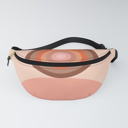 Abstraction_Circles_Tones_Minimalism_001 Fanny Pack