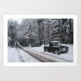 Winter Rover  Art Print