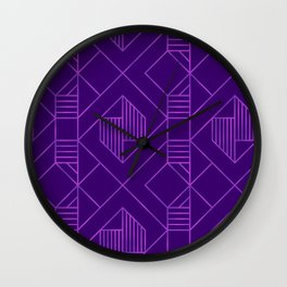 Metallic Foil in Purple Wall Clock