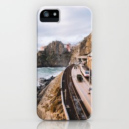 manarola railway station iPhone Case