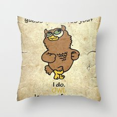 Guess WHO loves You? Throw Pillow