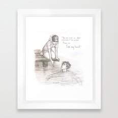 A Dip in the Styx Framed Art Print