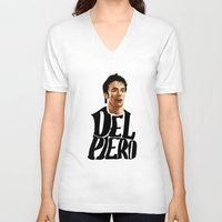 juventus V-neck T-shirts featuring Del Piero by Sport_Designs