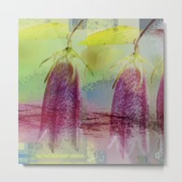 Modern Floral Abstract Metal Print