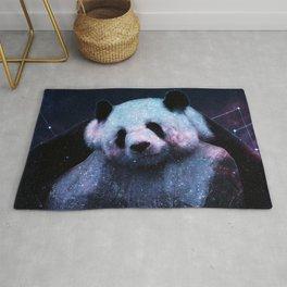 Sleepy Panda Hugs Galaxy Rug