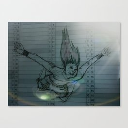 falling and don't give a s**t Canvas Print