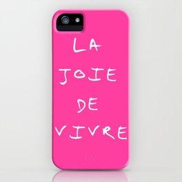 La joie de vivre 2 iPhone Case