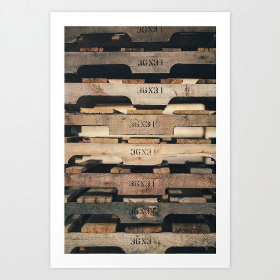 SHADES OF WOOD  Art Print