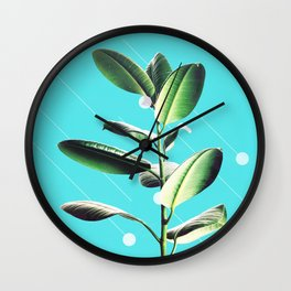 Leaves, Lines and Dots Wall Clock