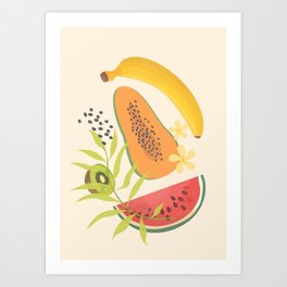Tropical Fruits II Art Print