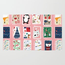 Christmas around the World Pink #Christmas Rug