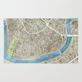 New Orleans City Map Rug