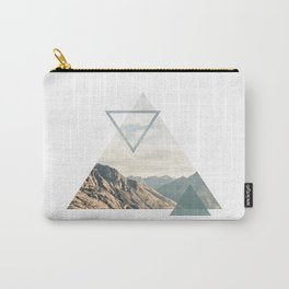 Mountain with Shapes Carry-All Pouch