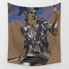 "Edward Burne-Jones ""The Perseus Series - Study of Perseus in Armour for The Finding of Medusa"" Wall Tapestry"