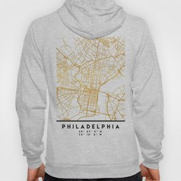 PHILADELPHIA PENNSYLVANIA CITY STREET MAP ART Hoody