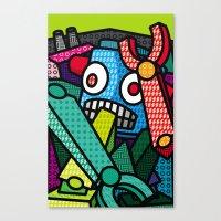 artsy Canvas Prints featuring Artsy Bot by Brandon Ortwein