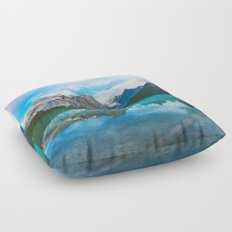 The Mountains and Blue Water Floor Pillow