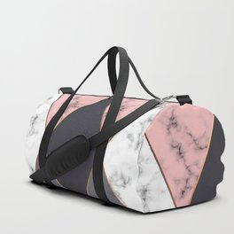 Marble Geometry 018 Duffle Bag
