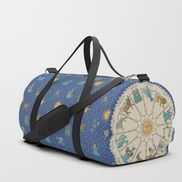 Vintage Astrology Zodiac Wheel Duffle Bag