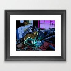 WOLF HOUSE Framed Art Print