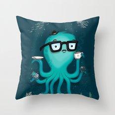 Nerdtopus Throw Pillow