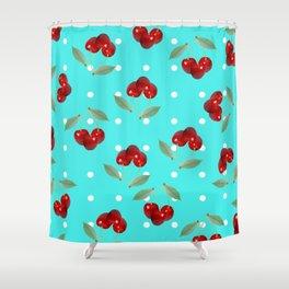 Retro Cherries Shower Curtain