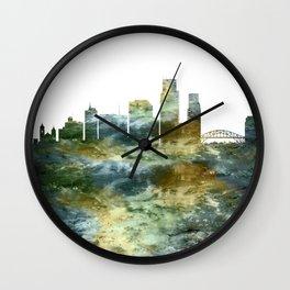 Corpus Christi Texas Skyline Wall Clock