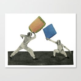 Pillow Fighters Canvas Print