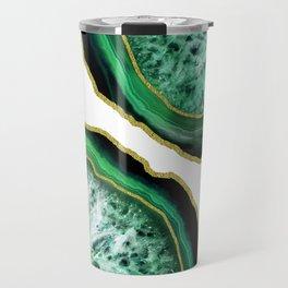 Green Holiday Agate Travel Mug