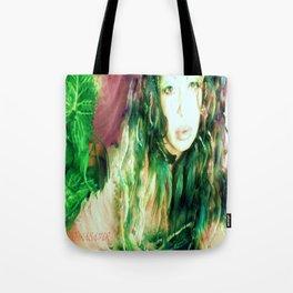 Fairy feather  fairy goddess green feathers  kashmir,art print  Tote Bag