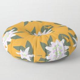 Passion Flower Pattern Floor Pillow