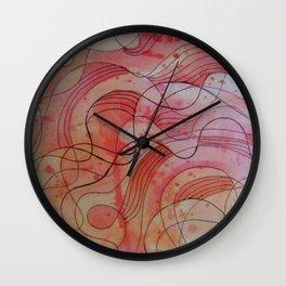 strawberry waves Wall Clock