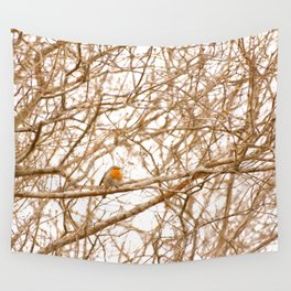 Robin In Early Spring #decor #society6 Wall Tapestry