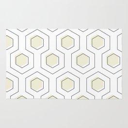 Cream Hexagon Rug