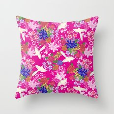 Tonde Iru Tori Throw Pillow