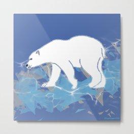 Endangered Polar Bear Metal Print