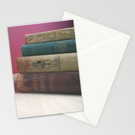 Old Books on the Table Stationery Cards