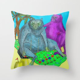 Pussy Paradise Throw Pillow