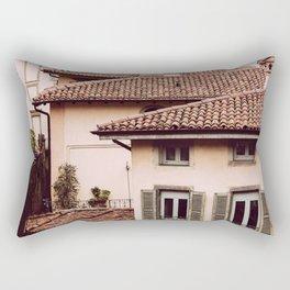 Bergamo rooftops - vertical Rectangular Pillow