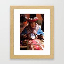 Peru: Weaver Framed Art Print