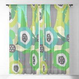 Bright tropical vibe Sheer Curtain