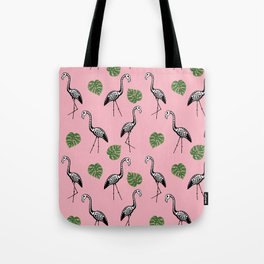A Flock of Dead Flamingos Tote Bag