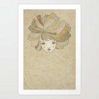 ginger Art Prints featuring Ginger by Natalia Ogneva