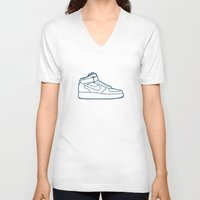 nike V-neck T-shirts featuring #13 Nike Airforce 1 by Brownjames Prints