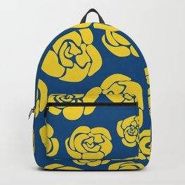Yellow roses on classic blue Backpack