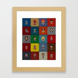 Screaming Heroes Framed Art Print