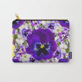 PURPLE PANSIES GARDEN LILAC ART Carry-All Pouch